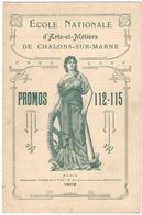CHALONS-sur-MARNE (51) 1912. ECOLE NATIONALE D'ARTS-et- METIERS. PROMOS 112-115. - Diplomi E Pagelle