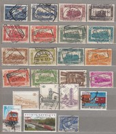 BELGIUM Trains Nice Small Used Stamps Collection #22201 - Chemins De Fer
