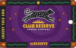 Reserve Casino - Henderson, NV - BLANK Slot Card - No Text Over Mag Stripe - Casino Cards