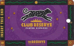 Reserve Casino - Henderson, NV - BLANK Slot Card - DLR CP Over Mag Stripe - Casino Cards