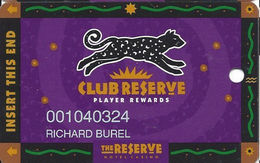 Reserve Casino - Henderson, NV - Slot Card - DLR CP Over Mag Stripe - Casino Cards