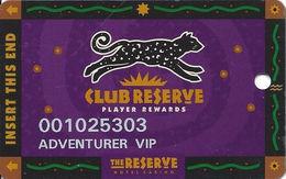 Reserve Casino - Henderson, NV - Temp Slot Card - DLR CP Over Mag Stripe - Casino Cards