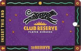 Reserve Casino - Henderson, NV - BLANK Slot Card - PPC Over Mag Stripe - Casino Cards
