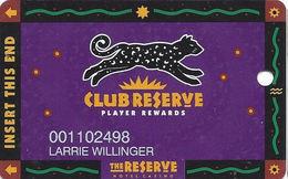 Reserve Casino - Henderson, NV - Slot Card - PPC Over Mag Stripe - Casino Cards