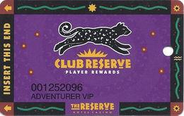 Reserve Casino - Henderson, NV - TEMP Slot Card - PPC Over Mag Stripe - Casino Cards