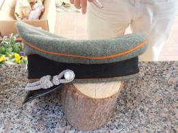 CAPPELLO DA CAMPAGNA RIGIDO WXX DA UFFICIALE – REPLICA - Headpieces, Headdresses