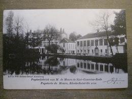 Cpa Rhode-Saint-Genèse - Papeterie Meurs - Papierfabriek - DVD 8789 Roosen-Struyf, Alsemberg - Rhode-St-Genèse - St-Genesius-Rode