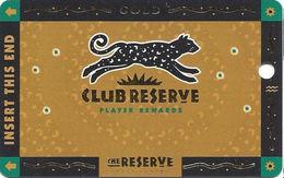 Reserve Casino - Henderson, NV - BLANK Slot Card - Casino Cards