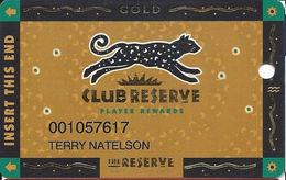 Reserve Casino - Henderson, NV - Slot Card - Casino Cards
