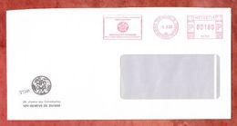 Brief, Absenderfreistempel, Wipo Ompi, Geneve 1990 (49816) - Poststempel