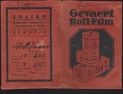 CARTONCINO GEVAERT ROLL FILM PORTA NEGATIVI 1927 (19788SC1 - Materiale & Accessori