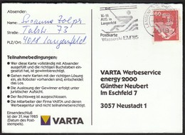 Germany Langenfeld 1985 / Water Skiing European Championship / Wasserski EM / Machine Stamp - Ski Nautique
