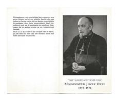 P 435. MONSEIGNEUR JOZEF OSTE - °1893 / +ZELE 1971 -  Missionaris Van SCHEUT/Bisschop Van JEHOL - Imágenes Religiosas