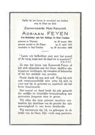 P 263. E.H. Kanunnik ADRIAAN FEYEN - Ere-Directeur College SINT-TRUIDEN - °HAMONT 1891 / DE PANNE / +SINT-TRUIDEN 1968 - Andachtsbilder