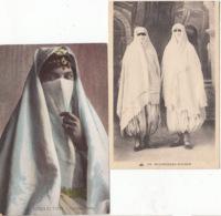 Algérie -  2 CPA  De  Mauresques Voillées  - Achat Immédiat - Donne