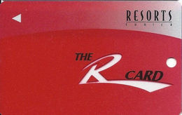 Resorts Casino - Tunica, MS - BLANK Slot Card - Clear 'R' - Casino Cards
