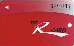 Resorts Casino - Tunica, MS - BLANK Slot Card - Clear 'R' - No Shadow On Insert Arrow - Casino Cards
