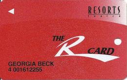 Resorts Casino - Tunica, MS - Slot Card - Solid White 'R' - Casino Cards