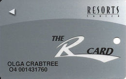 Resorts Casino - Tunica, MS - Slot Card - Clear 'R' - Casino Cards