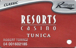 Resorts Casino - Tunica, MS - Slot Card - 3 Lines Text In Reverse Paragraph - Casino Cards