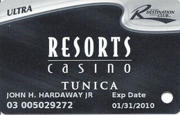 Resorts Casino - Tunica, MS - Slot Card - 4 Lines Text In Reverse Paragraph - Casino Cards