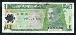 GUATEMALA 1 QUETZAL BANKNOTE, 2006 - Guatemala