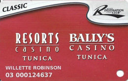 Resorts & Bally's Casinos - Tunica, MS - Slot Card - 2 Logos On Reverse & C-96252B - Casino Cards