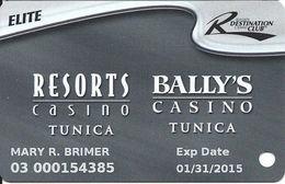 Resorts & Bally's Casinos - Tunica, MS - Slot Card - 2 Logos On Reverse & C-96252D - Casino Cards