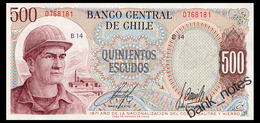 CHILE 500 ESCUDOS 1971 Pick 145 Unc - Chile