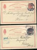 DENMARK LOT OF 4 VINTAGE STATIONARY CARD...USED - Cartas