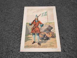RARE SICARD CHROMO ARTILLERIE DES COTES - 1705 - BOMBARDIER - Trade Cards