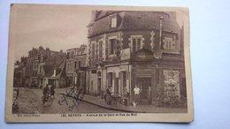 Carte Postale (C7) Ancienne De Nevers  , Avenue De La Gare Et Rue Du Midi - Nevers