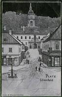 LILIENFELD (NÖ) - Platz, Silberglanzkarte, Gel.1899, Gute Erhaltung - Lilienfeld