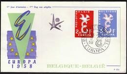 Belgium 1958 / Europa CEPT / FDC - Europa-CEPT