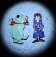 Pins Lot De 2 LES FOUS DU VOLANT SATANAS DIABOLO (au Dos 1988 Hanna  Barbera ) - Comics