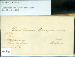 COMPLETE GESCHREVEN BRIEF Uit 1848 Gelopen Van ASSEN Aan De BURGEMEESTER Te DALEN  (10.841) - Netherlands