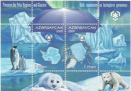 AZ 2009- PENGUIN, ASERBEDIAN, S/S, MNH - Pingouins & Manchots