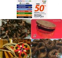 *BRUNEI* - Lotticino Di 5 Schede Usate Differenti - Brunei