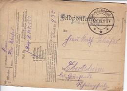 Feldpostkarte - Bayer. LMK 137 - Feldpost Nr. 830 - 1918 (34159) - Allemagne