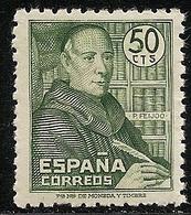 1947-ED. 1011 SERIE COMPLETA- PADRE BENITO J. FEIJOO-NUEVO SIN FIJASELLOS - 1931-50 Nuovi