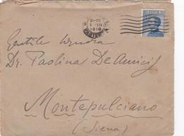 STORIA POSTALE - BUSTA VIAGGIATA - DA MILANO HA MONTEPULCIANO ( SIENA ) - 1900-44 Vittorio Emanuele III