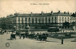 TOURS Indre Et Loire CPA 37 Place Du Palais (Ed Grand Bazar Tours) - Tours