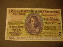 10 Ten Shillings-IRISH FREE STATE HOSPITALS SWEEPSTAKE  1935 - To Identify