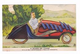 Très Jolie Carte Publicitaire Illustrée Byrrh, 1935 : 11. Vélo Aérodynamique à Pédalage Horizontal - Autres
