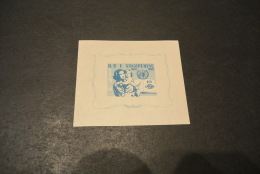 K14932- Bloc MNh ALBANIA - 1958 10th ANNIVERSARY OF HUMAN RIGHTS SCOTT#552a - Albanie