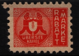 COFFEE - Übersee Kaffee Hamburg - GERMANY - LABEL VIGNETTE Revenue - Trading Stamp - Voucher Coupon MNH - Drinks