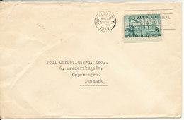 USA  Cover Sent To Denmark 15-6-1949 Single Stamped - Etats-Unis