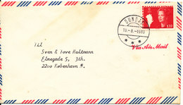 Greenland Air Mail Cover Sent To Denmark Single Stamped Dundas 19-8-1980 - Unclassified