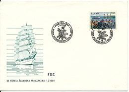 Aaland FDC Sailing Nice Cachet Mariehamn 1-3-1984 - Aland