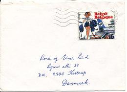 Belgium Cover Sent To Denmark 17-12-1993 Single Stamped - Belgium